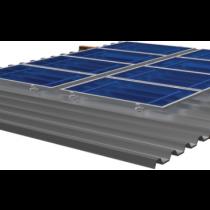 Estrutura para 4 paineis solar Romagnole para telha Fibrocimento