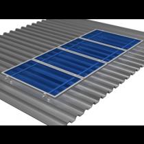 Estrutura para 4 paineis solar Romagnole para telha Ondulada