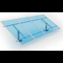 Estrutura para 4 paineis solar Romagnole Solo