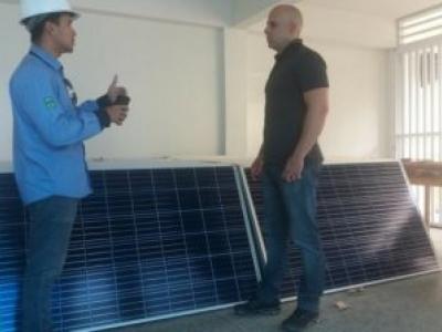 Escola de Iguatu investe na instalação de placas fotovoltaicas