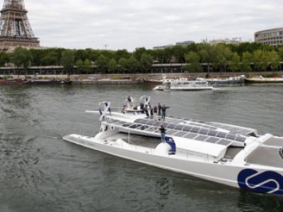 Barco de R$ 16 milhões, movido a energia renovável, inicia volta ao mundo