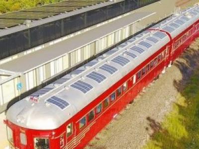 O Primeiro Trem Solar do Mundo em Funcionamento