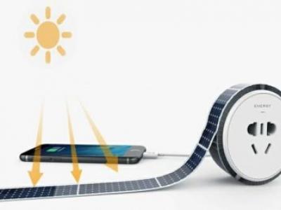 Fita solar adesiva e reutilizável para ter energia em qualquer lado
