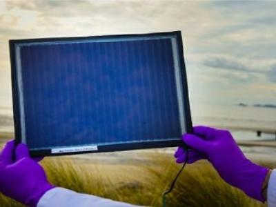 Células solares impressas em painéis seis vezes maiores