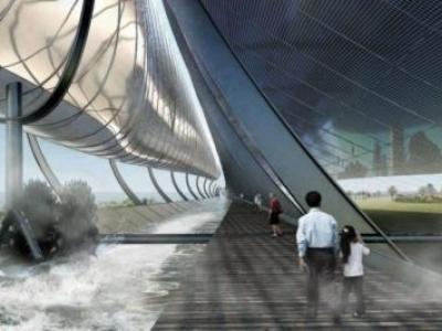 Proposta de gerador hidro-solar de Olson Kundig poderia energizar 200 casas em Melbourne
