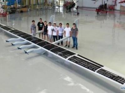 Avião chinês não tripulado movido por energia solar faz voo inaugural